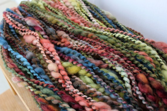 REDUCED Resonate- Hand Dyed, Thick and Thin, Thread plied, Handspun Yarn