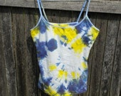 CLEARANCE SALE - 50% Off - Camisole Tank in Team Tie Dye Purple and Yellow - Women's Size L
