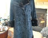 1970s Hippie Faux Persian Lamb and Mink Almost Famous Coat SALE sale