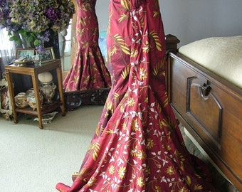 Red Carpet Red Wedding dress gown Alternative red bridal gown evening gown