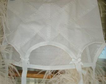 Naughty Vintage garter belt girdle burlesque lingerie honeymoon boudoir wear