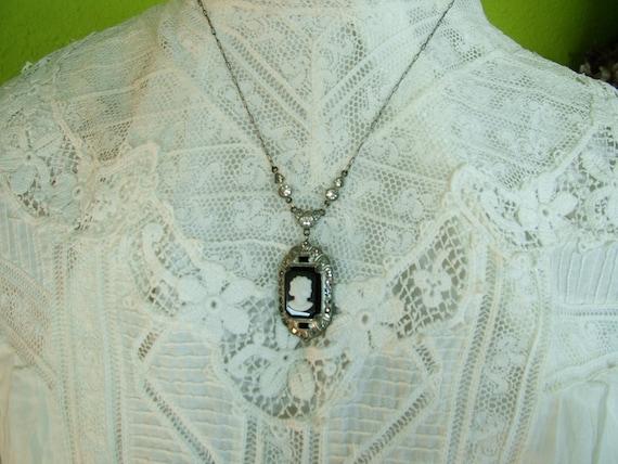 SALE Edwardian White Lace Dress