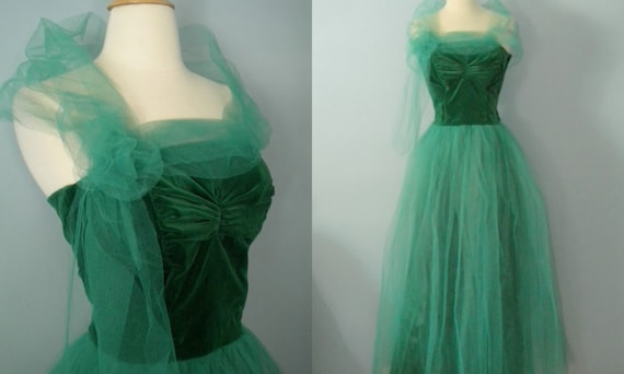 1950s Prom Dress Enchanted Forest