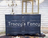 """Vintage Painted French Provincial Dresser """"Black"""" - MADE TO ORDER"""