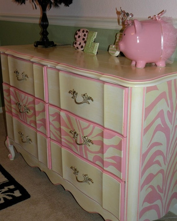 Items similar to vintage painted cottage shabby furniture - Painted french provincial bedroom furniture ...