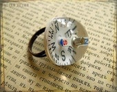 Compass ring Modern Nomad - Shipping included - working mini compass on adjustable brass base