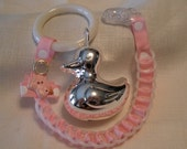 Baby Chain RATTLE-Petal Pink
