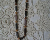 Vintage Wood Bead Friendship Necklace