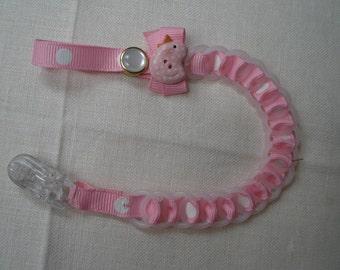 Baby Chain TWINKLE  -Petal Pink Binky