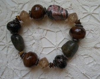 Gaelic Multi Stone Stretch Bracelet