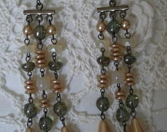 Bohemian Glass Chandeleir Clip Back Earrings