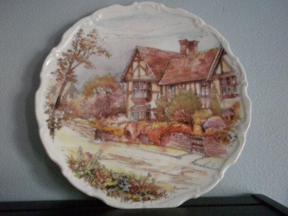 Royal Osborne English Tudor Scene Plate