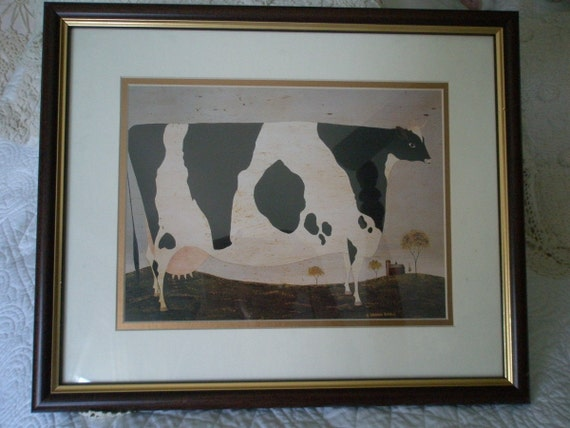 Framed and Famed Cow Print