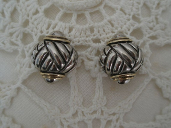 Gold & Silver Plated Braided Design Earrings