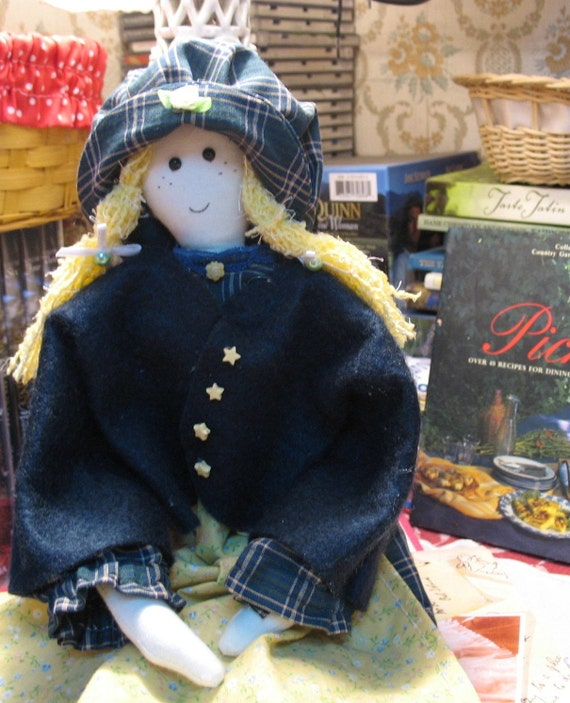 CARRIE  (Holly Hobbie).    Handmade storybook doll