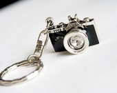 Black Camera Keychain / keyring