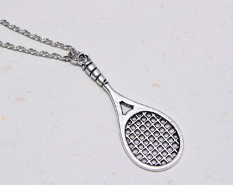 Exercise More - Tennis Racket Necklace (N114)