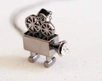 Vintage Video Camera Necklace (N166)