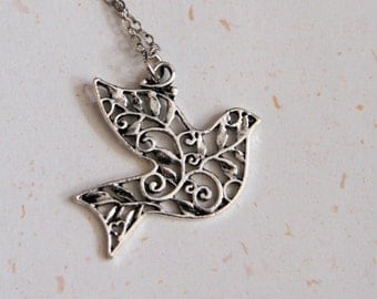 Peace Lover - Pigeon Necklace (N189)