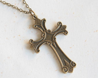 Joy and Peace - Cross Necklace (N232)