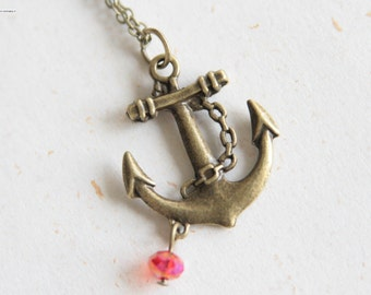 Anchor Necklace (N272) - Go Sailing