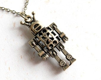 Robot Necklace (N278)