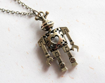 Robot Necklace (N280)
