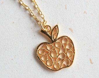 Golden Apple Necklace (N299)