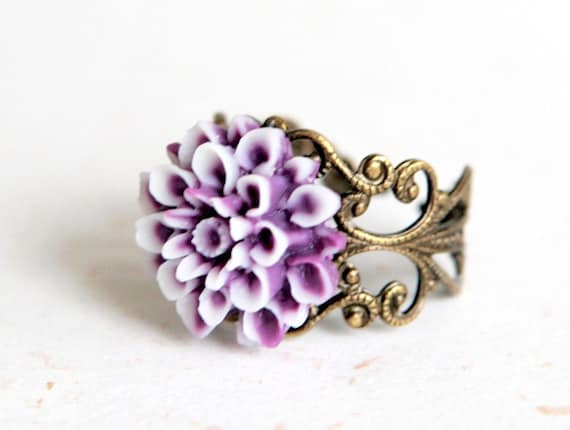 Lilac Dahlia Ring