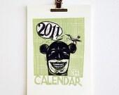 Handprinted Calendar 2011 Batman greets you