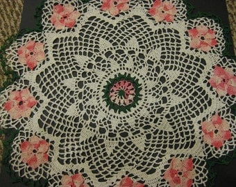 Spring Flowers Lace Doily