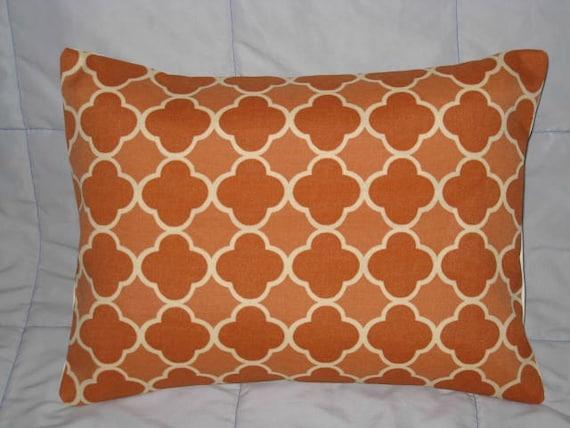 Decorative Pillow Cover. Apricot. Orange. Cream. Geometric. 12 x 16. Accent Pillow