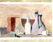 """Morandi trio no.1, tempera on paper, 4x6"""""""
