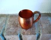 Vintage Copper Mug - Solid Copper