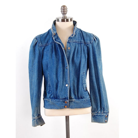 Vintage 80s Puff Sleeve Denim Jacket Hipster Jean Dream