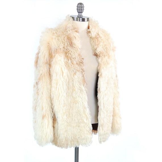 Vintage 60s curly MONGOLIAN lamb fur coat / Essential Bohemian Rocker jacket