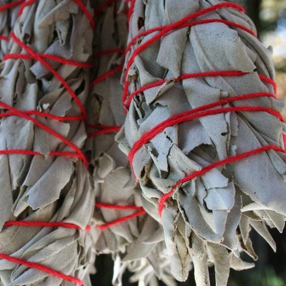 Sage Bundles - (two white sage smudging bundles)