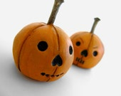 Jack O Lantern - Clay Pumpkin, Cute Clay Figures, Halloween Gift, Cute Halloween