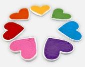 Heart Magnets - Cute Magnets, Kawaii Magnet, Magnet Gift, Rainbow Magnet