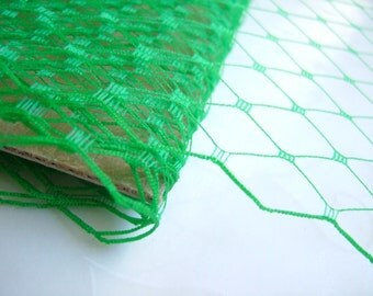 1 Yard 9 inches wide Russian/French veiling -- Kelly Green