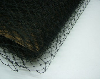 1 Yard 18 inches wide BLACK Birdcage Russian/French Veiling