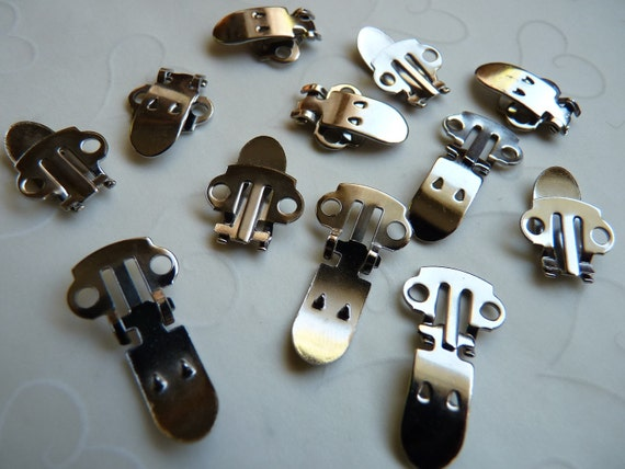 Bulk Buy -- 100 Pieces of Nickel Plated T - Shoe Clip Blanks (50 pairs)