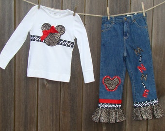 Minnie Mouse Tee Shirt & Jeans