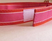 Adjustable Velcro Belt for  Kids Children Toddlers in Hot Pink and Orange Stripe