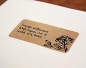 Custom Return Address Labels - Floral 02, Floral Address Labels, Rustic Wedding
