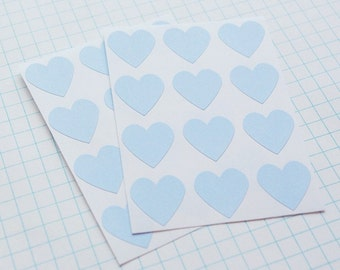 Blue Heart Envelope Seal Stickers - Set of 48