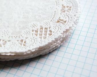 White Lace Paper Doilies - Leah Style, Set of 50 Doilies, 5 Inch Round Doilies, Paper Doilies, Gift Wrap, Wedding Favor