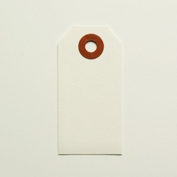 White Shipping Tags - Set of 50