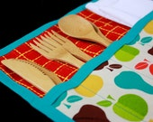 Urban Picnic Roll-up in Brown, Red and Teal by Nstarstudio