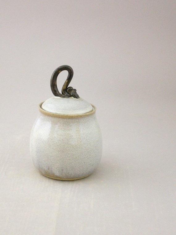 Lidded Jar in Azure Mist by Nstarstudio